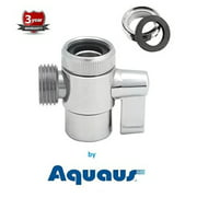 RinseWorks - Aquaus Brass Faucet Diverter Valve with Male Thread AdapterNSFANSI 61 Low Lead Compliant for Drinking Water System