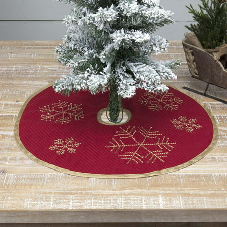 Brick Red Traditional Christmas Decor Revelry Nylon Embroidered Textured Nature Print 21