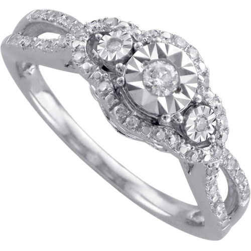 1/4 Carat T.W. Diamond Sterling Silver Promise Ring