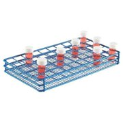 HEATHROW SCIENTIFIC HS120086 Test Tube Rack, Epoxy-Coated Steel, Blue