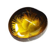Tozai Home - Metallic Flowers Coconut Bowl - Gold