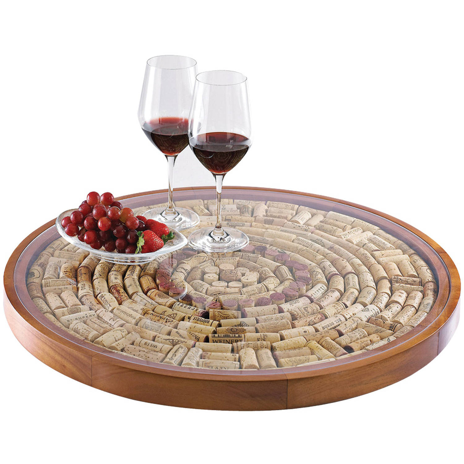 Wine Enthusiast 16722 Wine Cork Lazy Susan Kit