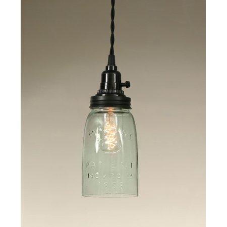 Quart Open Bottom Mason Jar Pendant Lamp
