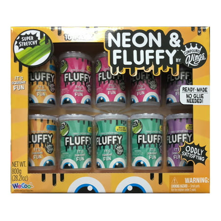 Compound Kings 10-Pack of High Quality Neon & Fluffy Slime