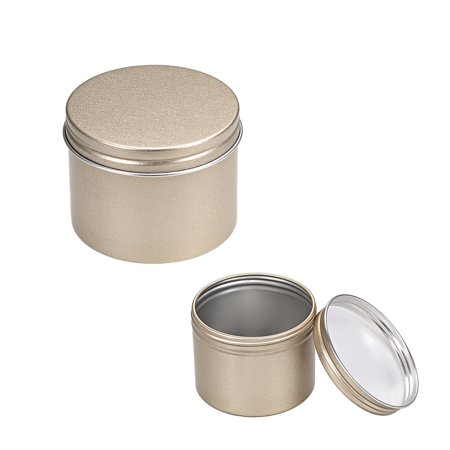 4oz Round Aluminum Cans Tin Screw Top Metal Lid Containers (Glass Jars With Metal Screw Top Lids)