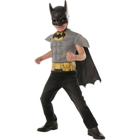 Batman Muscle Chest Shirt Child Costume - Top Batman Costumes
