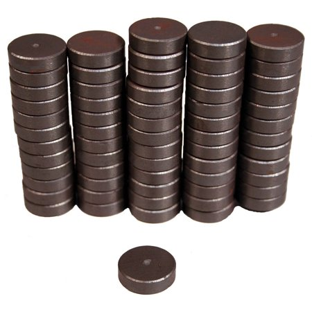 Creative Hobbies Ceramic Industrial Magnets -11/16 Inch (.709) Round Disc - Ferrite Magnets Bulk for](Bulk Magnets)