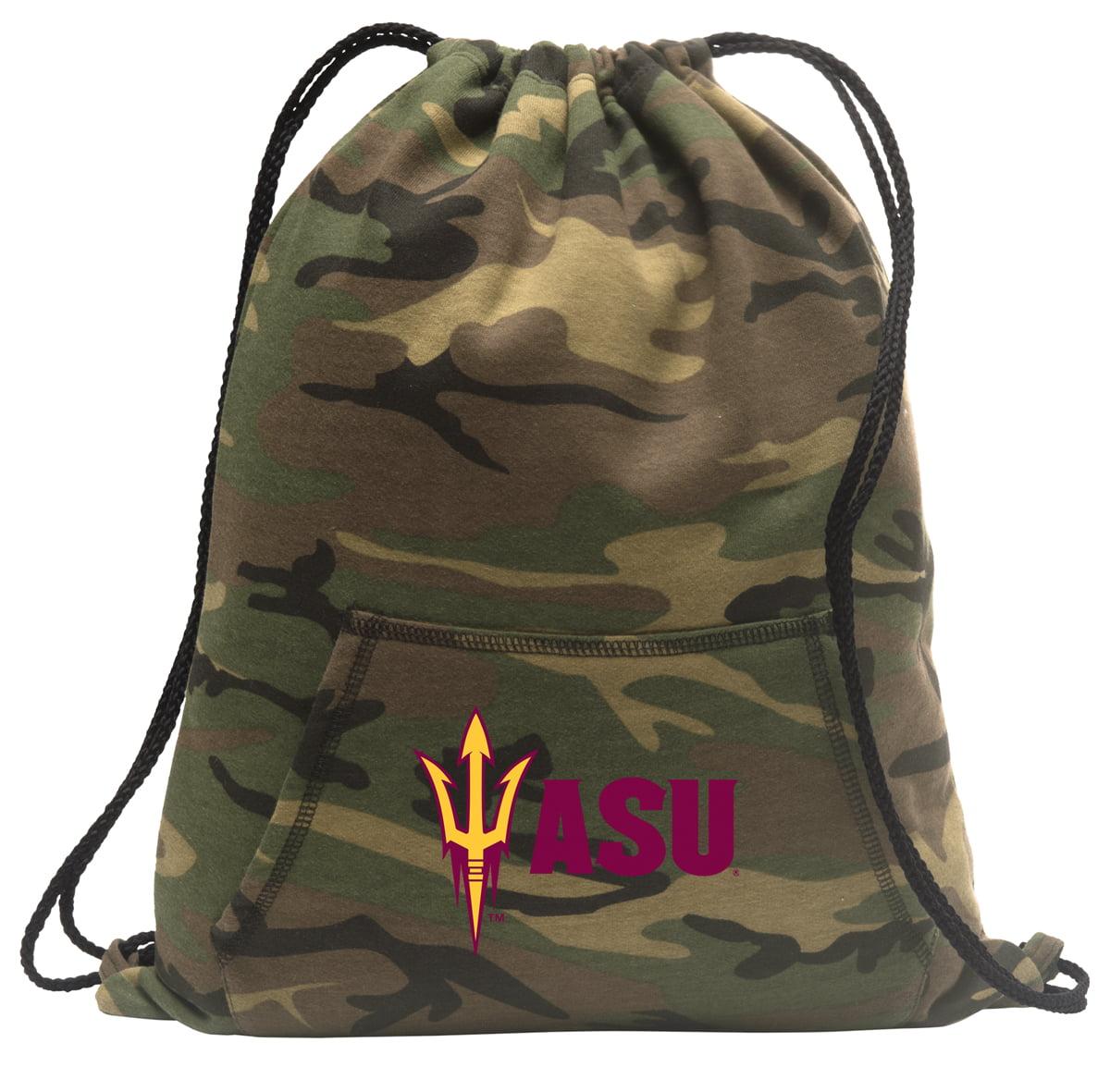 Arizona State Drawstring Bag Camo Arizona State Backpack Cinch Pack for Boys Girls Men Women