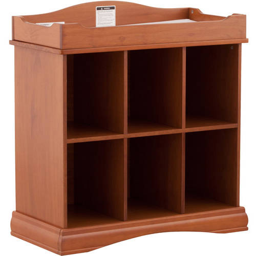 Beatrice 6 Cube Organizer/Change Table - Oak