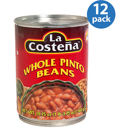 La Costena Whole Pinto Beans, 19.75 oz (Pack of 12)
