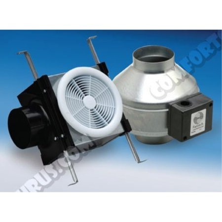 Duct Mount Kit - Fantech PB110 Inline Exhaust Bath Fan Kit, 110 CFM, Remote mount fan, for 4