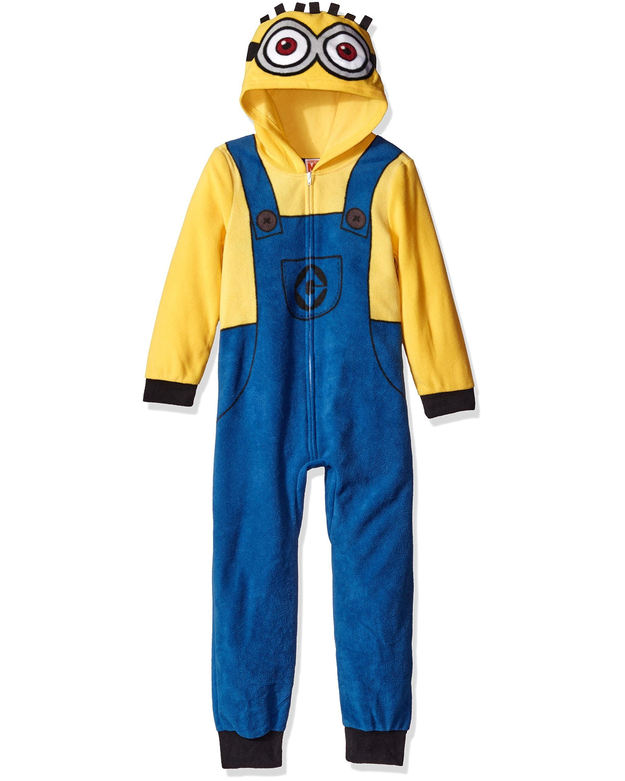 Despicable Me Boys' Minion Family Cosplay Union Suit, Yellow, Size: 4