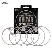 ZIKO DPA-70 Classical Guitar Strings Normal Light Tension Silver Wound Nylon String -Rust Set of 6pcs Musical Instrument String Accessories
