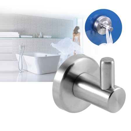 Fdit Durable 304 Stainless Steel Bathroom Kitchen Wall Mounted Single Clothes Hook Home Towel Hanger