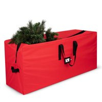 ShopoKus High Quality Christmas Tree Stroage Bag - 65 x 15 x 30 In., Fits Tree Up To 9 Ft Tall, Holiday Xmas bag With Durable Handles And Sleek Zipper - Red