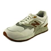New Balance Mens 878 Leather Classics Athletic Shoes White 8 Medium (D)