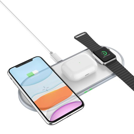 3 in 1 Wireless Charger Multifunctional Fast Charging Adapter for Phone Watch Headset - image 2 of 8