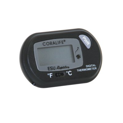 Coralife ES00232 Plastic and Metal Battery Operated Digital Thermometer, -10 to 140 deg F