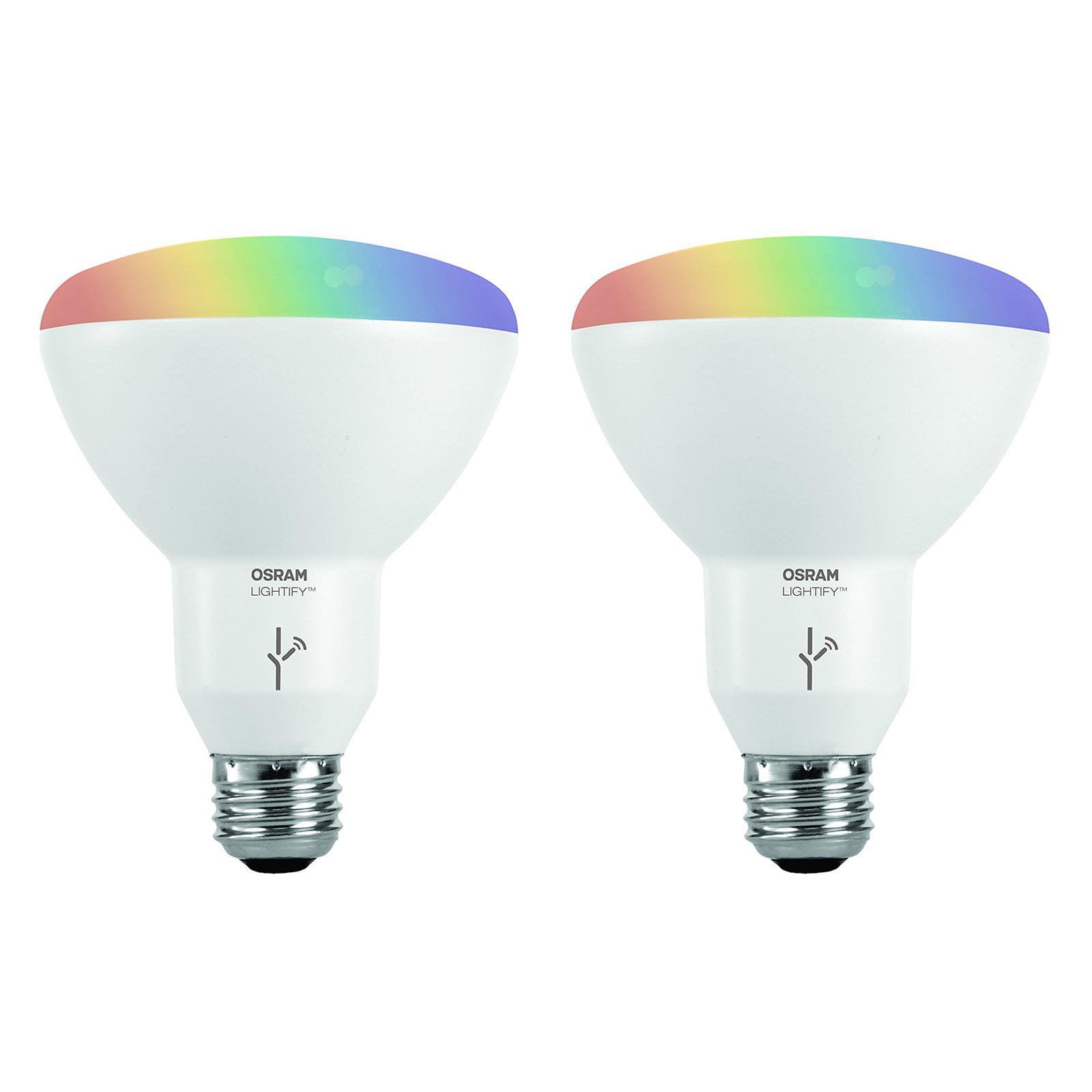 Sylvania Osram Lightify Smart Home 65W BR30 White/ Color LED Light Bulb (6 Pack) - image 2 of 9