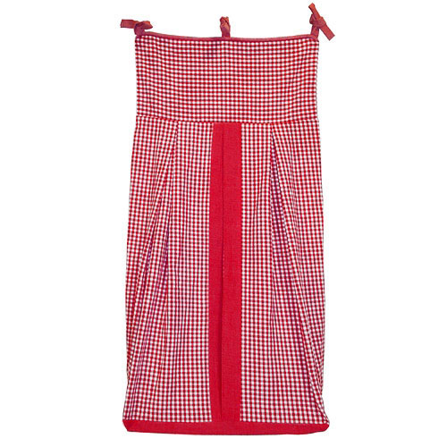 Seed Sprout Basics Gingham Diaper Stacker, Red