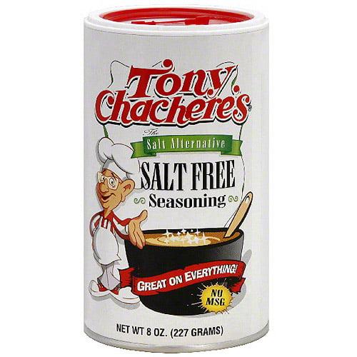 Tony Chachere's Salt Free Seasoning, 8 oz (Pack of 6)