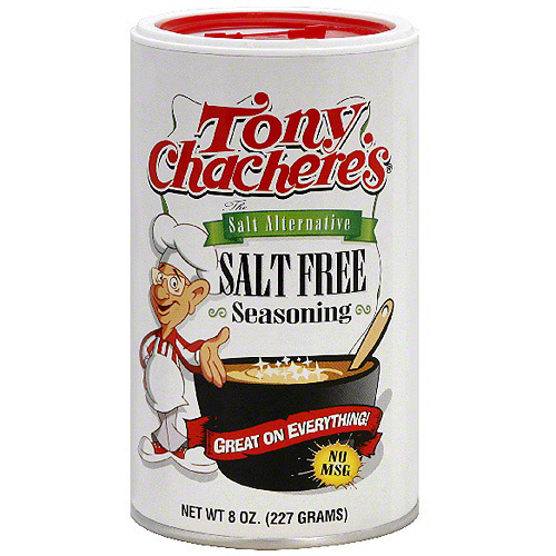 Tony Chachere's Salt Free Seasoning, 8 oz (Pack of 6)