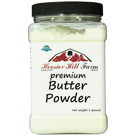 Hoosier Hill Farm Real Butter Powder, 1 lb plastic jar
