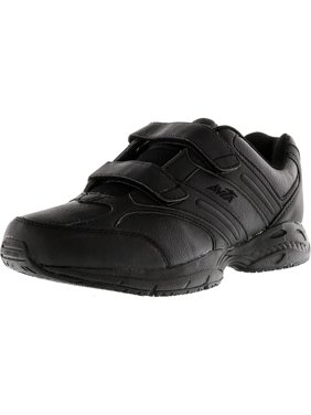 Avia Women's 344 Slip Resistant Black / Chrome Silver Lemon Yellow Ankle-High Training Shoes - 8W