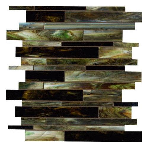 Marazzi Catwalk Random Sized Glass Mosaic Tile in Jade Jellies