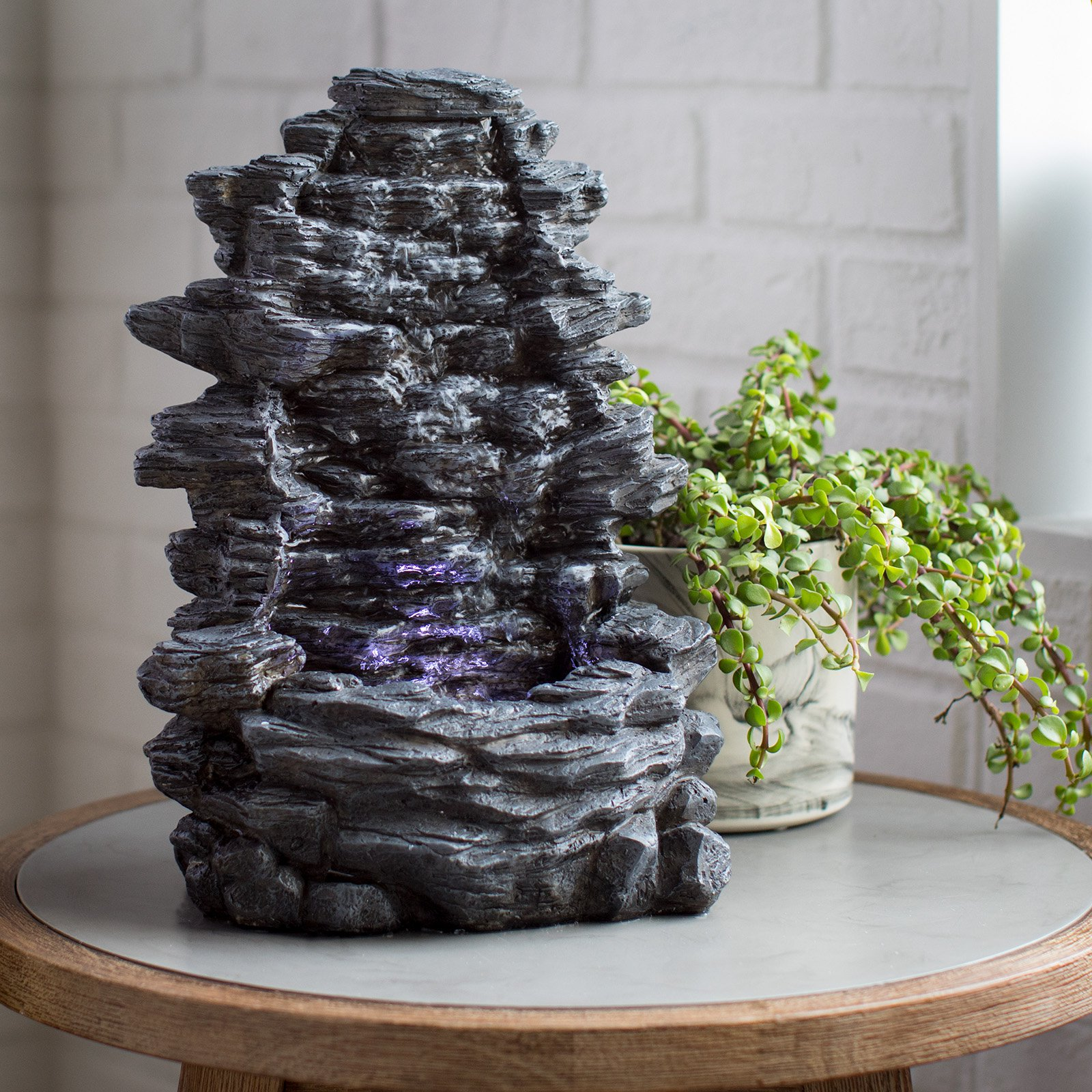 Belham Living Hudson Rock Table Top Fountain