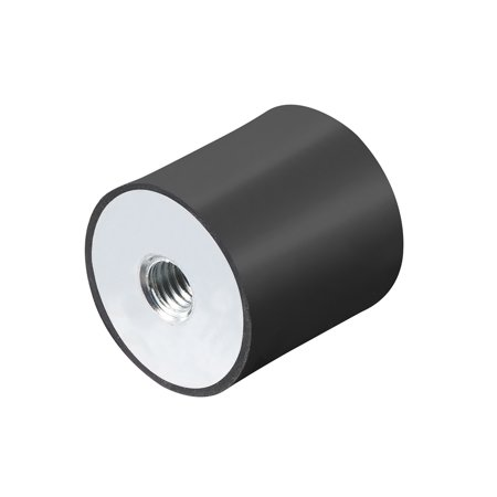 30x30mm Rubber Female M8 Thread Mount Isolator Replace Anti Vibration Pads Flat - image 3 of 3