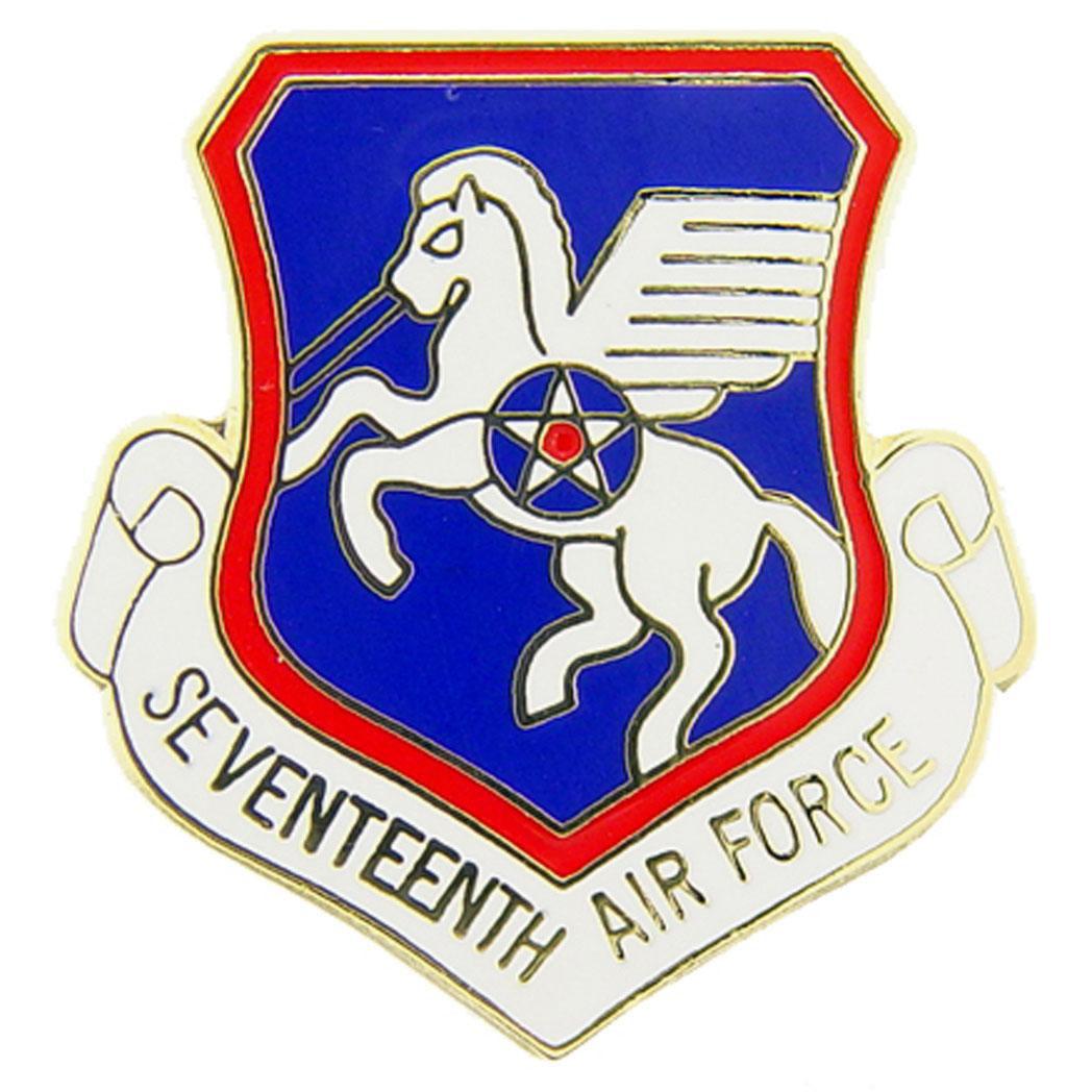 "U.S. Air Force 17th Air Force Shield Pin 1"""