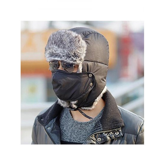 80e9f569e26 Girl12Queen - Moderna Fashion Men Women Winter Warm Trapper Ear Flap  Ushanka Hat with Wind Proof Mask - Walmart.com