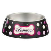 Loving Pets Milano Collection Bowl Princess Polka Dot Large, 1.0 CT