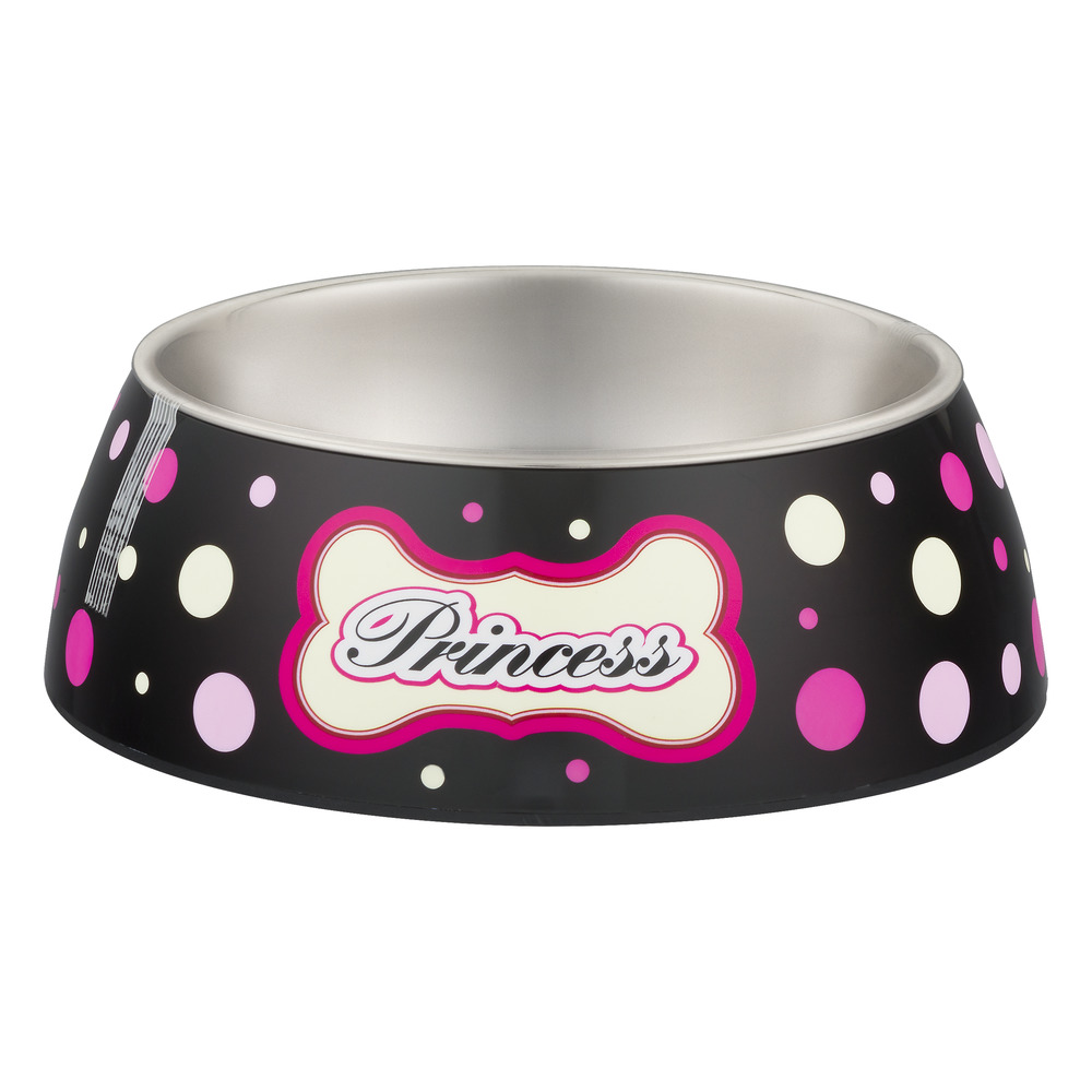 Loving Pets Milano Collection Bowl Princess Polka Dot Large, 1.0 CT
