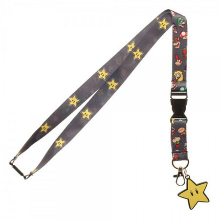 Lanyard - Super Mario - Brothers Star  New Licensed la55e9smb