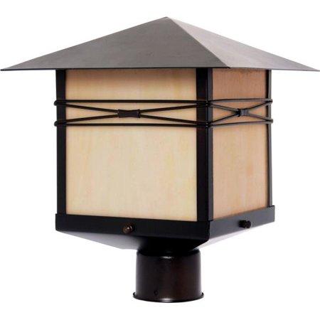 - Maxim Lighting Taliesin - One Light Outdoor Pole/Post Mount, Burnished Finish - Iridescent Glass