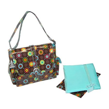 Kalencom 88161233123 Chocolate Doodle Bugs Midi Coated Buckle Bag