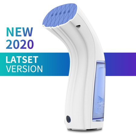 Compact Garment Steamer with 360°Anti-Leak, Handheld Steamer,  Travel Steamer, Mini Clothing Steamer with 110mL Water Tank The CS12 Garment Steamer:950W Handheld Garment Steamer with 360Anti-Leak, Mini Clothing Steamer with 110mL Water Tank - Portable Fabric Steamers for Travel, College, Apartments and DormsGarment steamer is a best gift and travel partner.It is convenient to carry, freely put it into luggage or bag, not occupy space.You can use the hanging iron steamer at any time and any place, easy to romove surface wrinkles, steam disinfection and sterilization. It is a good helper to home, travelling.Professional style Fabric Steamer at home:Dry Steam Design Leading technology helps solve the problem of water spraying and leakage. Both used for vertical and horizontal steam ironing. Wide application without ironing board.Powerful & Effective 950W power, 25s fast heat-up and continuous dry steam can quickly iron and sterilize. Constant steam output helps to remove wrinkle, odor and bacteria rapidly.Safe Hanging Ironing Suitable for most fabrics, such as cotton, linen, fiber, fleece, even silk and other high-quality textile fabrics. It also protects your hand.Compact Body Easy to operate by one hand. Portable handheld iron steamer is convenient and applicable for travel, home. Detachable 110ml water tank offers about 10 minutes to work.Automatic Power-off ProtectionPrevents dry burning, automatically detects power and temperature, once out of limits it will automatically powers off and provides all-round protection.Mini Clothing Steamer Features:Material: ABSCable length?7.9ft/2.4mRated voltage: 110-120V/60HzRated power?950WHeating time?25s fast heat-upTank capacity?110mlSize(about)?length 3.5''/9cm, width 2.4''/6cm, height 7.9''/20cmWeight(about)?18oz/510gColor?jewelry bluePackage list: 1* hanging steam ironing; 1* user manualNotice:* The actual color may vary slightly from the online image due to monitor color settings.* Please allow slight measurement deviatio