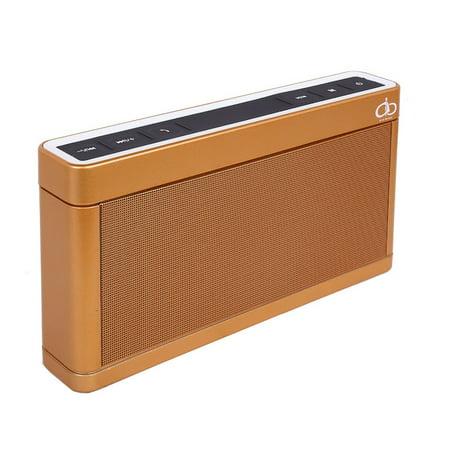 PREMIUM 6 WATT MINI SOUND METAL BLUETOOTH SPEAKER W /FM/USB/TF/AUX-IN - GOLD