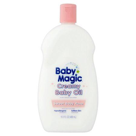 (3 Pack) Baby Magic Sweet Baby Rose Creamy Baby Oil, 16.5 fl oz