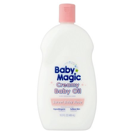 (3 Pack) Baby Magic Sweet Baby Rose Creamy Baby Oil, 16.5 fl oz ()