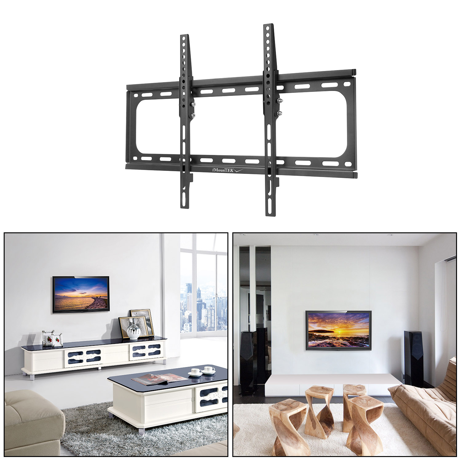 "iMounTEK Tilting TV Wall Mount Bracket For 37""- 70"" LED/LCD/OLED/Plasma Flat Screen TV. Full Motion Swivel Articulating Dual Arms, 110 LBS Hold- Sony/LG/Samsung/Panasonic/Vizio/Toshiba"