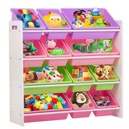 Kids Toy Storage Organizer With Plastic Bins Box Shelf Drawer