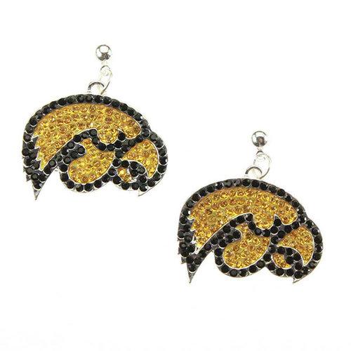 NCAA - Iowa Hawkeyes Rhinestone Earrings