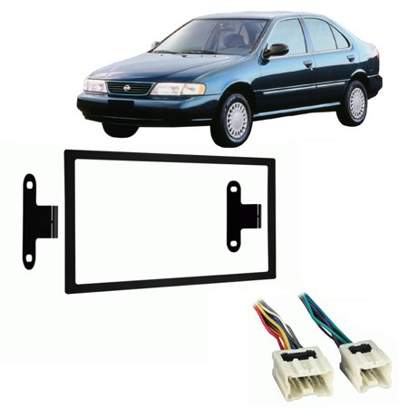 Fits Nissan Sentra 1995-1999 Double DIN Stereo Harness Radio Install Dash Kit ()