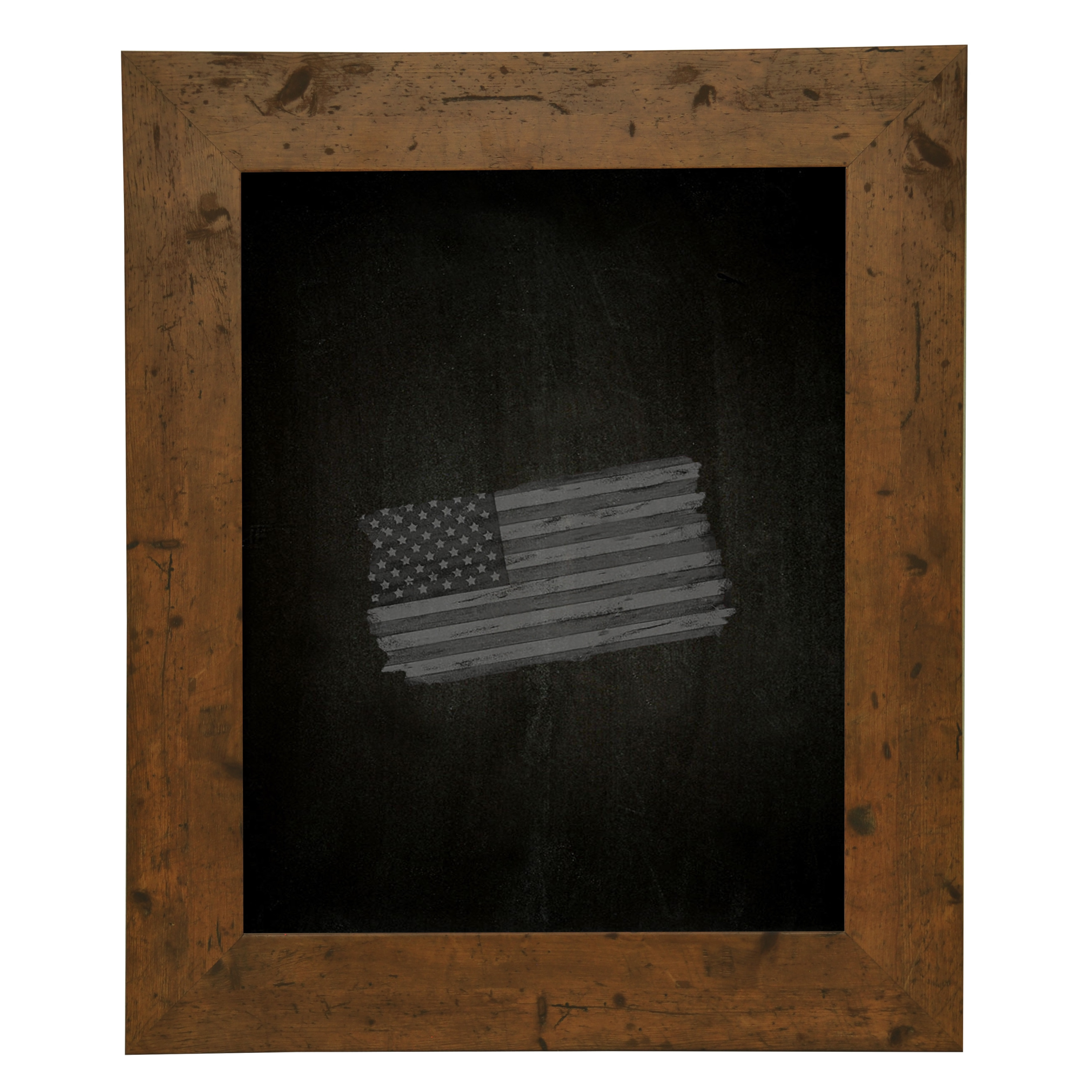 Rayne Mirrors Rustic Light Walnut Chalkboard