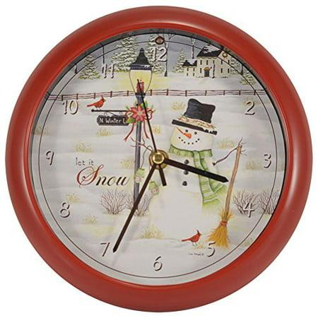 Holiday Clock (Mark Feldstein & Associates Let it Snow Lisa Kennedy Penny Lane Holiday Clock... )