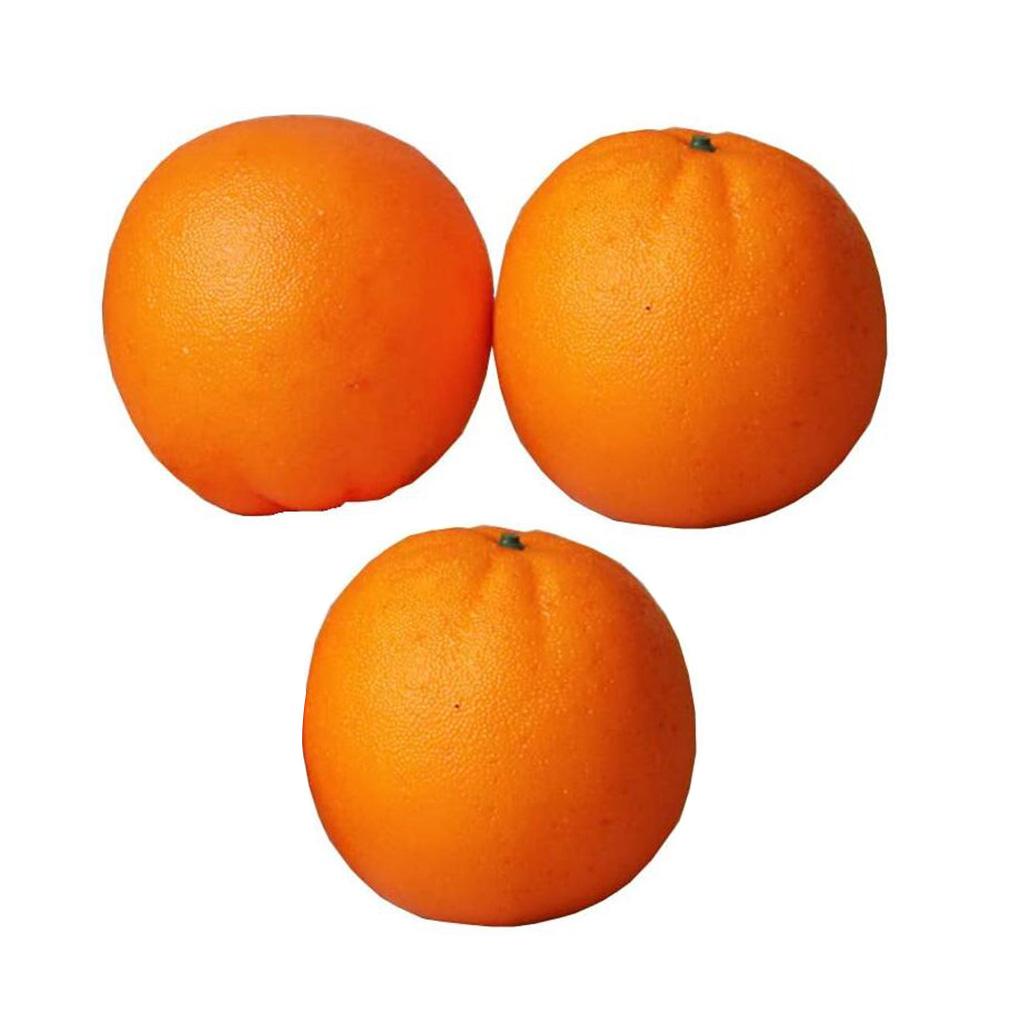 Regard Natral 3pcs Artificial Orange Fruit Simulation orange fruit artificial Fruit Photography Sketching Fake Foam Orange Prop