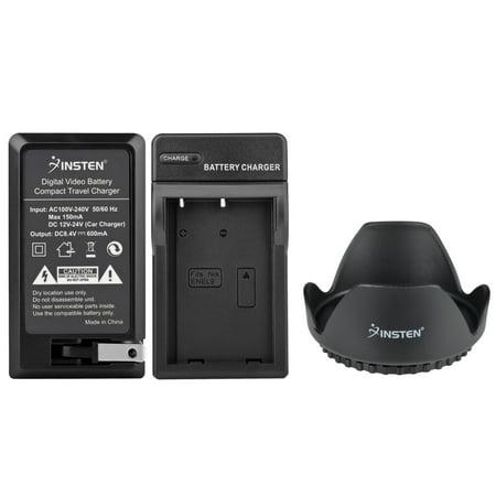 Nikon D40 Body - Insten Battery Charger For Nikon EL9 MH23 D3X D40 D40X D60 D5000 D3000+Lens Hood